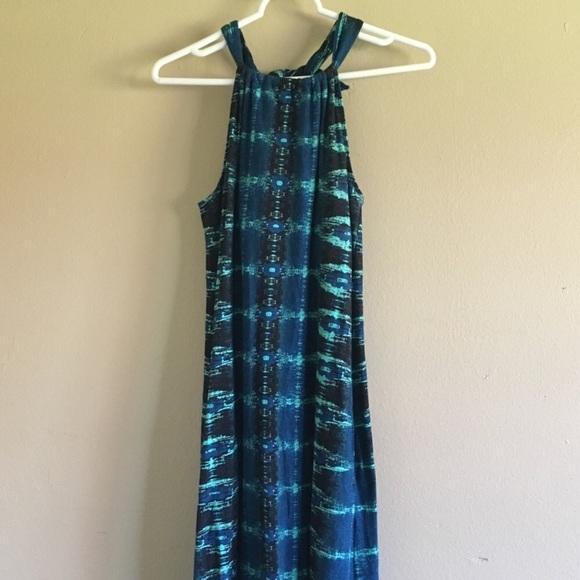 Athleta Dresses & Skirts - Athleta blue green halter summer maxi dress